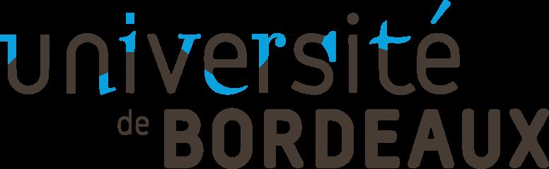 Logo de l'université de Bordeaux. L'université de Bordeaux compte plus de 50 000 étudiants et 4 000 enseignants-chercheurs dans les domaines des sciences humaines et sociales, des sciences de la vie, des sciences de la santé et des sciences et technologies. Il s'agit de la plus grande université de la région Nouvelle-Aquitaine.